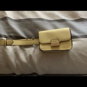 Waist belted purse BRIGHT SUNNY YELLOW!